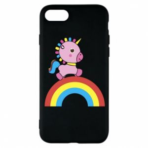 Phone case for iPhone 8 Rainbow pony