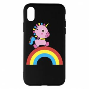 Phone case for iPhone X/Xs Rainbow pony