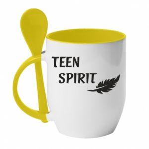 Kubek z ceramiczną łyżeczką Teen spirit