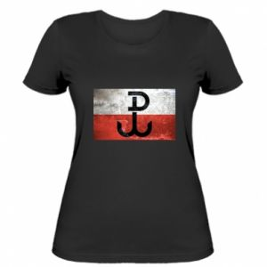 Koszulka damska Tekstura Kotwica