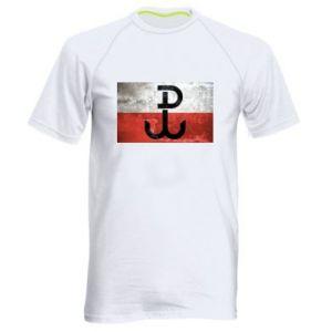 Męska koszulka sportowa Tekstura Kotwica