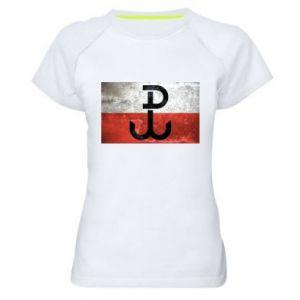 Women's sports t-shirt Tekstura Kotwica