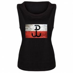 Damska koszulka bez rękawów Tekstura Kotwica