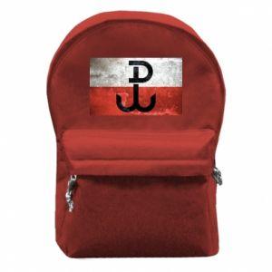 Plecak z przednią kieszenią Tekstura Kotwica