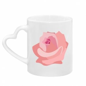 Mug with heart shaped handle Tender rose