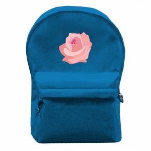 Backpack with front pocket Tender rose