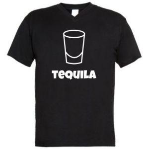 Men's V-neck t-shirt Tequila for lime - PrintSalon