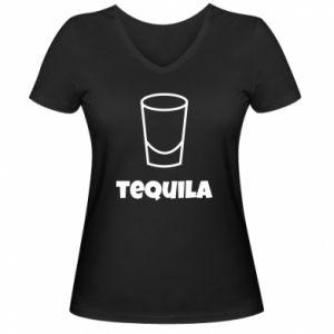 Women's V-neck t-shirt Tequila for lime - PrintSalon