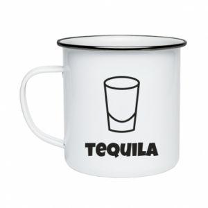 Enameled mug Tequila for lime - PrintSalon