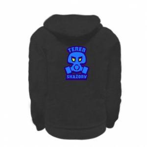 Kid's zipped hoodie % print% Contaminated territory