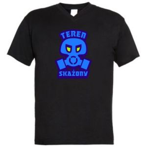 Męska koszulka V-neck Teren skażony
