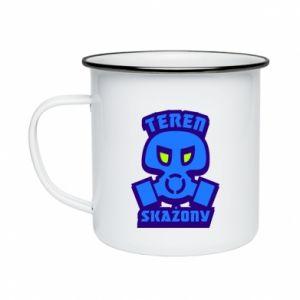Enameled mug Contaminated territory