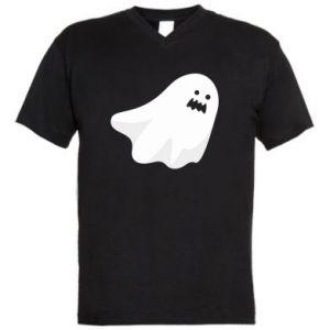 Męska koszulka V-neck Terrifying ghost