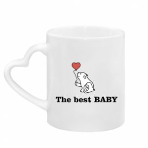 Mug with heart shaped handle The best baby