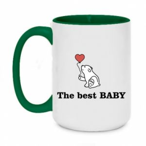 Two-toned mug 450ml The best baby