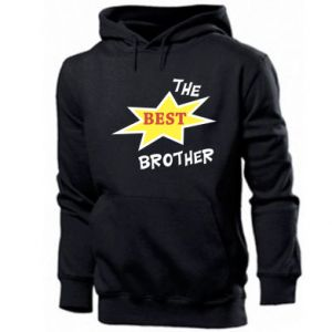 Męska bluza z kapturem The best brother