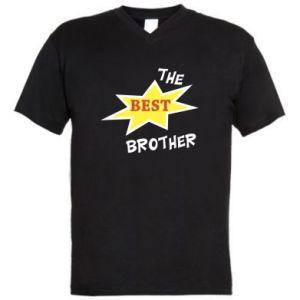 Męska koszulka V-neck The best brother