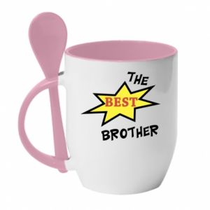 Mug with ceramic spoon The best brother