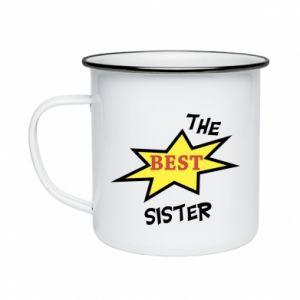 Kubek emaliowany The best sister