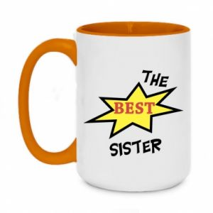 Two-toned mug 450ml The best sister
