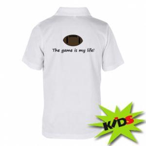 Dziecięca koszulka polo The game is my life! - PrintSalon