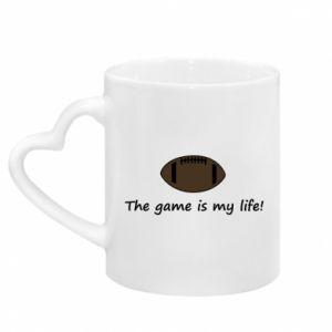 Kubek z uchwytem w kształcie serca The game is my life!