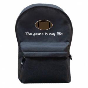 Plecak z przednią kieszenią The game is my life! - PrintSalon