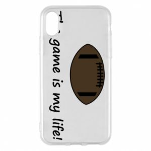 Etui na iPhone X/Xs The game is my life! - PrintSalon
