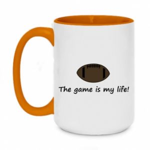 Kubek dwukolorowy 450ml The game is my life!
