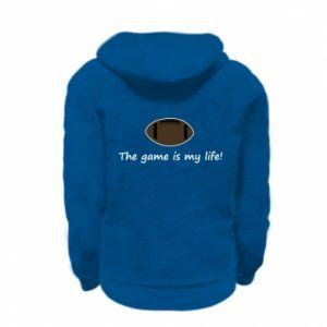 Kid's zipped hoodie % print% The game is my life!
