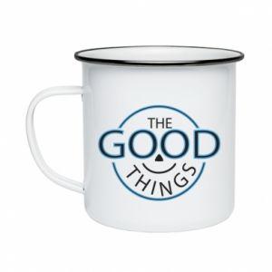 Enameled mug The good things