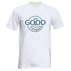 Men's sports t-shirt The good things