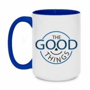 Two-toned mug 450ml The good things