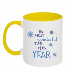Two-toned mug The most wonderful time of the year