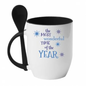 Kubek z ceramiczną łyżeczką The most wonderful time of the year