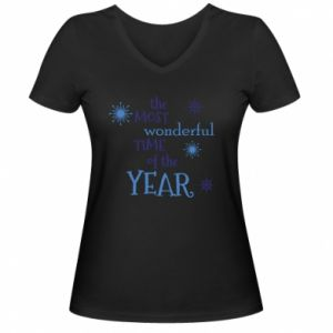 Damska koszulka V-neck The most wonderful time of the year