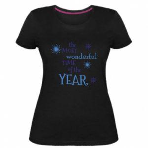 Damska premium koszulka The most wonderful time of the year