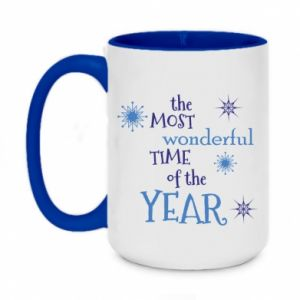 Two-toned mug 450ml The most wonderful time of the year