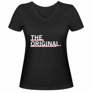 Damska koszulka V-neck The original.