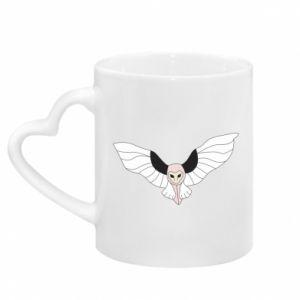Kubek z uchwytem w kształcie serca The owl flies on you