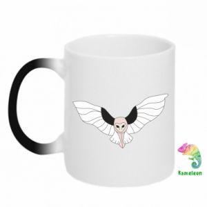 Kubek-kameleon The owl flies on you