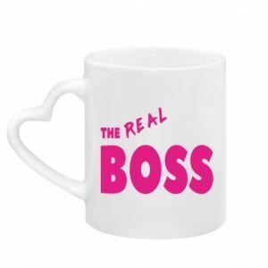 Mug with heart shaped handle The real boss
