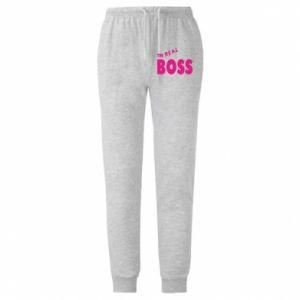 Męskie spodnie lekkie The real boss - PrintSalon