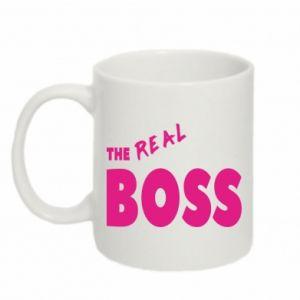 Kubek 330ml The real boss - PrintSalon