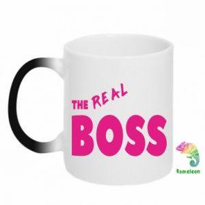 Kubek-kameleon The real boss - PrintSalon