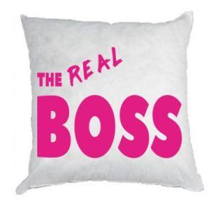 Poduszka The real boss - PrintSalon