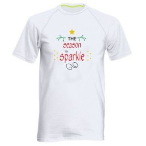 Men's sports t-shirt The season to sparkle