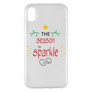 Etui na iPhone X/Xs The season to sparkle