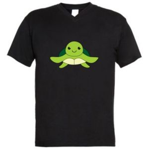 Men's V-neck t-shirt The turtle wants hugs