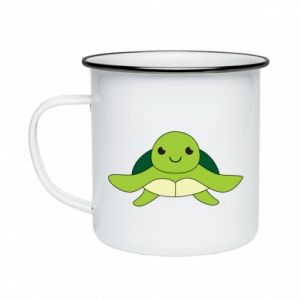 Enameled mug The turtle wants hugs - PrintSalon